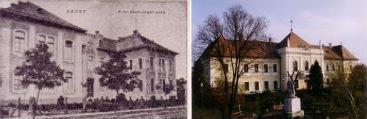 Régi képek a Polgári iskoláról és a városházáról